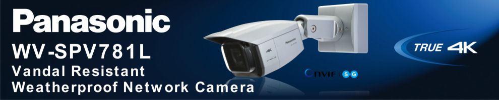 Panasonic WV-SPV781L 4K Vandal Resistant Weatherproof Network Camera