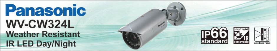 Panasonic WVC-W324L Weather Resistant IR Day/Night Camera