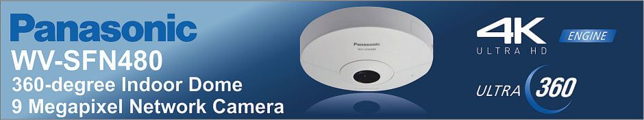Panasonic WV-SFN480 360-degree Dome 9 megapixel Network Camera