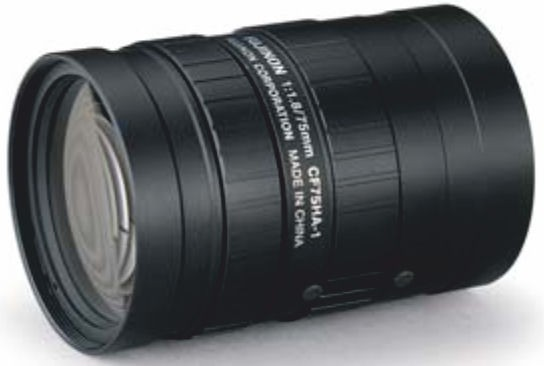 "Fujinon CF75HA-1 1"" Fixed Focal 1.5-Megapixel Lens"