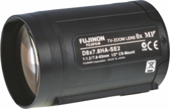 """Fujinon D8x7.8HA-SE2 1/2"""" Zoom 1.3 Megapixel Lens"""