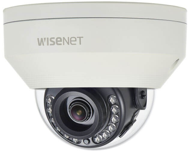 Samsung / Hanwha HCV7010R QHD (4MP) Analog Vandal-Resistant IR Dome Camera