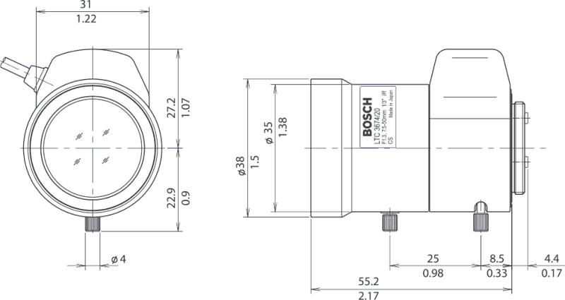 Bosch LTC367420 Varifocal Auto Iris/Direct Drive