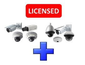 Panasonic WJNXE20W Additional Camera Kit (three licenses for 32 cameras) for WJ-NX200