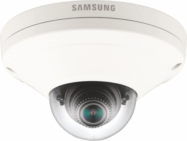Samsung / Hanwha SNV6013FHM camera fitted with FACIT pre-installed App