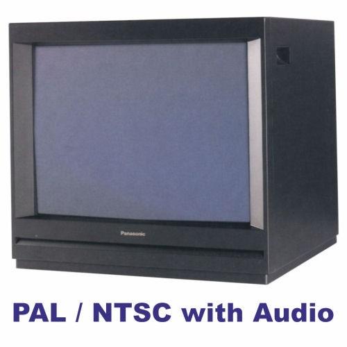 "Panasonic TCM21 21"" Colour Metal Cased Monitor PAL/NTSC with Audio"