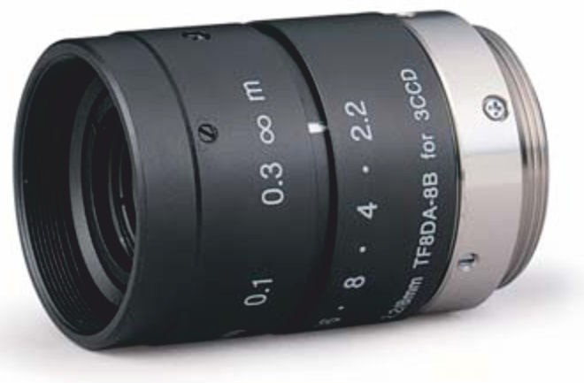 "Fujinon TF8DA-8B 1/3"" Fixed Focal lens 3 CCD Lens"