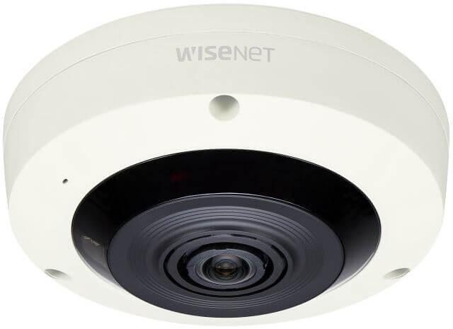 Samsung / Hanwha XNF8010R 6MP Sensor Fisheye Camera