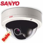 Sanyo VDCHD3500P Quad-Stream Day/Night Vandal-Resistant Dome
